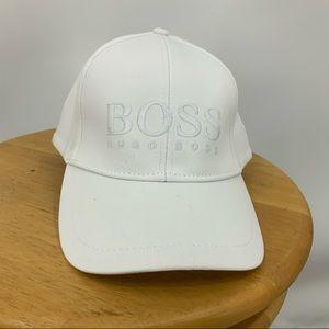 Hugo boss white w/embossed lettering baseball cap